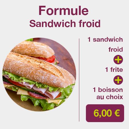 formule sandwich froid