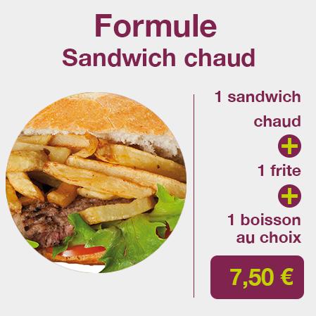 formule sandwich chaud