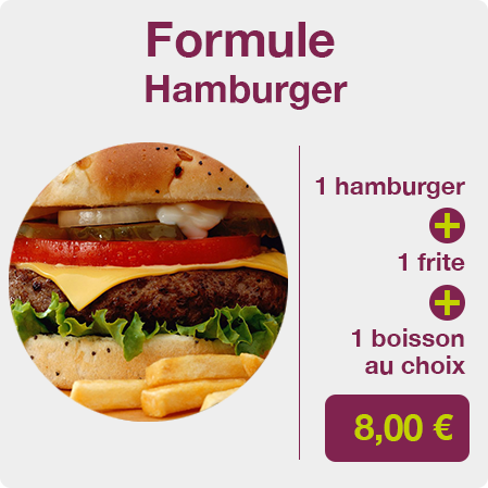 formule hamburger
